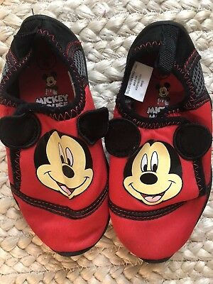 420a3e5fc095 TODDLER BOYS 7 8 Disney Mickey Mouse Sherpa Slippers Euc -  5.99 ...