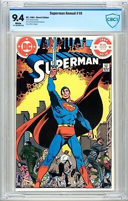 Superman Annual #10 CBCS 9.4 1984 White Pages DC