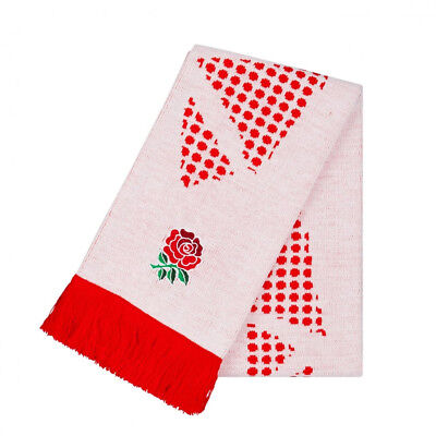Canterbury England 2017/18 Acrylic Rugby Union Supporter Fan Scarf White/Red