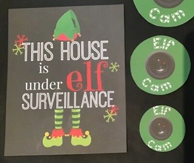 Handmade Christmas Accessories /Elf Cam Compatable with Elf on the Shelf