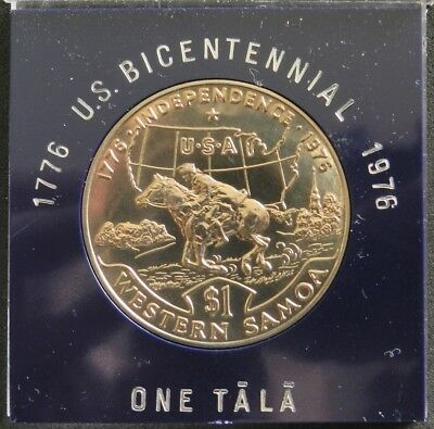 1976 Western Samoa 1 Tala And Usa Bicentennial Independence $1