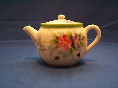 Vintage Japanese Tea Pot hand painted