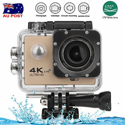 4K WIFI Remote Action Camera 1080P 16MP 170° 30m Underwater Sports DV for GOPRO
