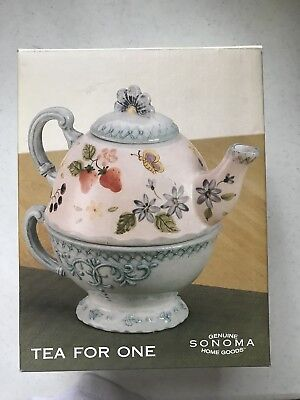 Vintage Sonoma Tea For One; Teapot and Teacup; New in Box!