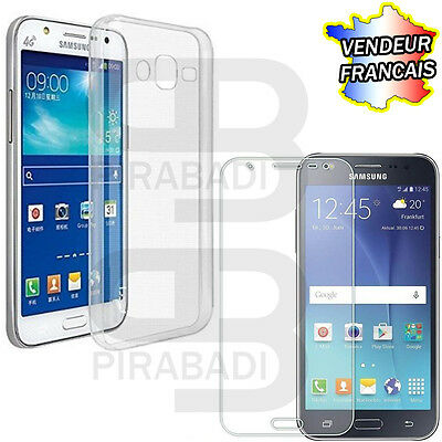 Hull Cover Silicon Case + Protection Tempered Glass Samsung Galaxy J5 J 5