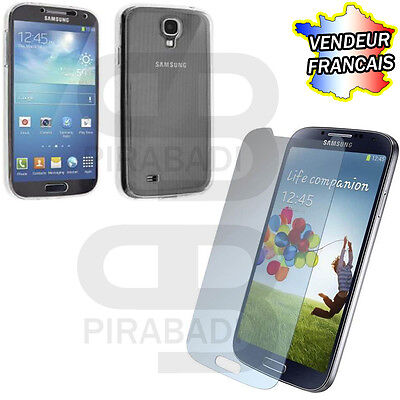Hull Cover Silicon Case + Protection Tempered Glass Samsung Galaxy S4 S 4