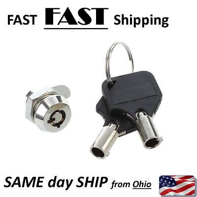Small Cabinet Door Quarter Turn Security Tubular Cam Lock & Key set