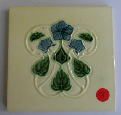 "Original  English Art Nouveau tile , c1908 6""x6""Tile ref 698"