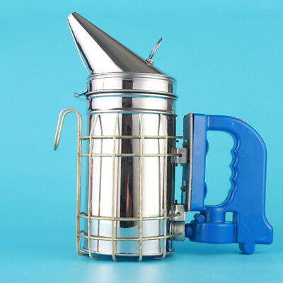 Large Stainless Steel Electric Bee Hive Smoker Fumes Machine Beekeeping Tool