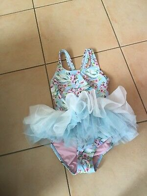 Rock Your Baby Fairytale Swans Tulle One Piece Sz  6 Bnwt Rrp $49.95