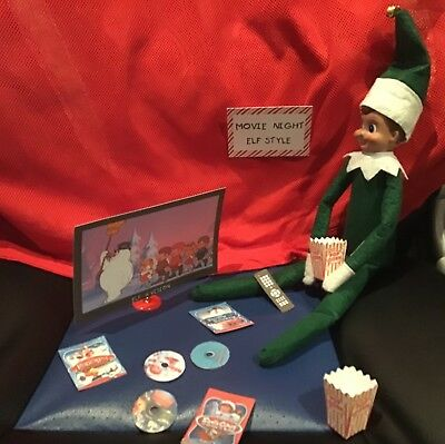 Handmade Christmas Elf Accessorie/Movie Night Compatable with Elf on the Shelf