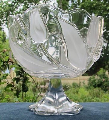 Lovely Waltherglas Crystal Fruit Bowl ~ Tulip Design