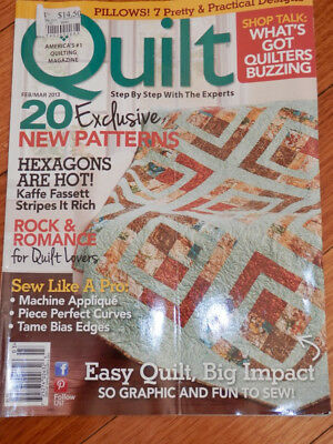 quilting magazine. Quilt America's #1 quilt magazine step by step feb/mar 2013