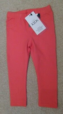 M&S Kids BNWT Girls Red Jeggings Trousers 1-1.5 years 12-18 months Toddler Baby