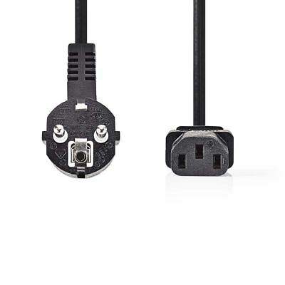 Nedis Power Cable 3 x 1.5mm² Schuko Male Angled to IEC-320-C13 3m Black