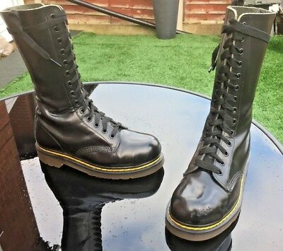 Dr Martens 1940 black smooth leather boots UK 4 EU 37 Made in England,
