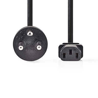 Nedis Power Cable Type K Plug (DK) to IEC-320-C13 2m Black CEGP11400BK20