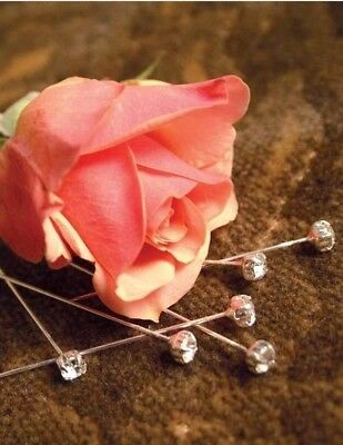 The Victorian Trading Co Set of 36 Crystal Rhinestone Corsage Stick Pins New