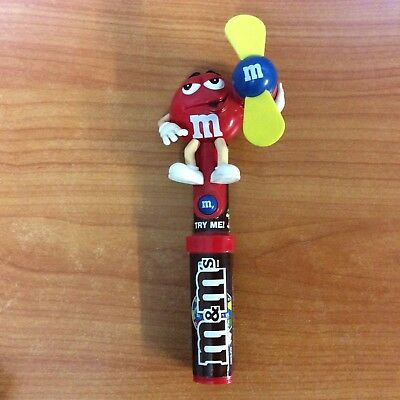M&M's Red Candy Fan - Very Good Working Condition