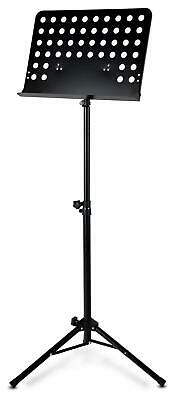 Heavy Duty Metal Music Stand Holder Orchestral Robust Sheet Adjustable Black