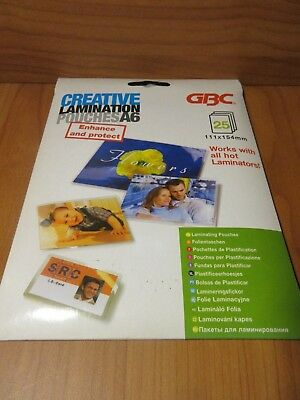 1 x Pack of CREATIVE LAMINATION POUCHES A6 PACK 25 laminating Pouches