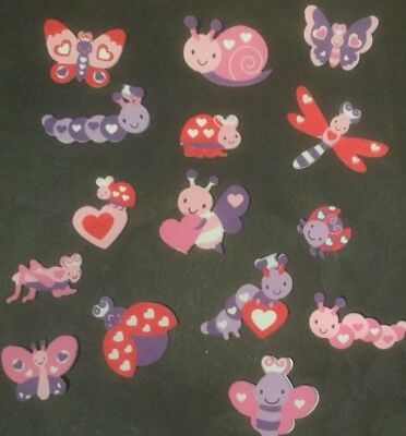 Love Bugs/Self Adhesive Foam Shapes/Stickers/Embellishment/Butterfly/Lady Beetle