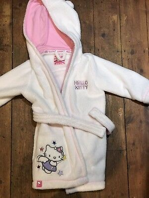 Girls Hello Kitty Dressing Gown M&S 1.5-2 Yrs