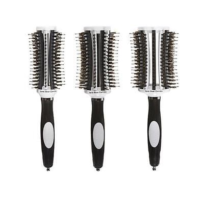3x Olivia Garden ThermoActive Ionic Boar Combo Round Brushes 35/45/55mm **NEW**