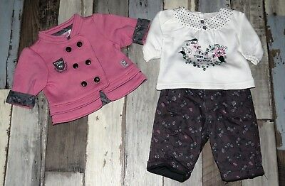 🎀 Ensemble 3 pièces chaud TOM & KIDDY fille 3 mois NEUF 🎀 LAA76