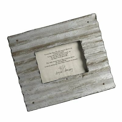 Dryads Dancing Reclaimed Corrugated Roof Tin Frame, 4x6, Antique Silver