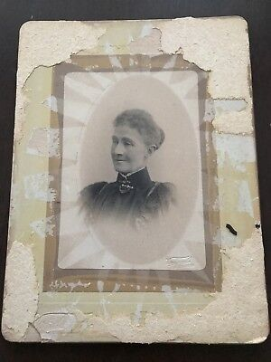 Very Large Photocard Of A Woman (1800s/early 1900s?)Vander??, Melbourne.