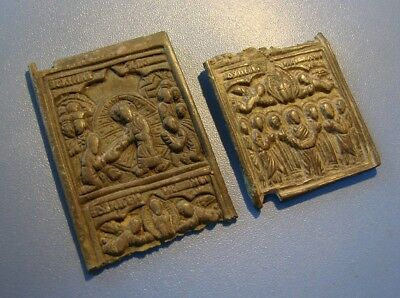 Fragments Of The Ancient Icon. Bronze. Original.
