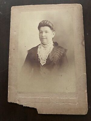 Melba & Co, Melbourne Photographers-Old Photo Card Of A Woman