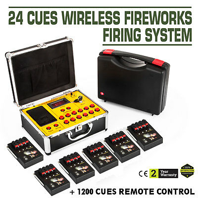 24 cues Wireless Fireworks Firing system remote control fire control equipment