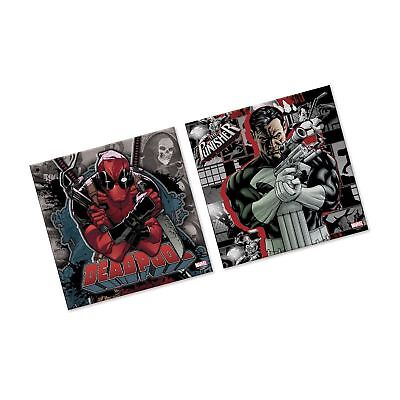 Silver Buffalo MU062Q1 Marvel Deadpool Knife and the Punisher Gun Canvas Wall...