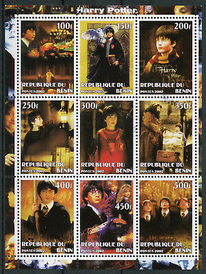Benin 2002 CTO Harry Potter Hermione Hagrid 9v M/S Movies Film Owls Stamps