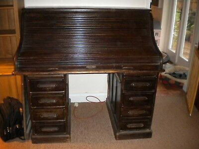 Victorian antique roll top desk