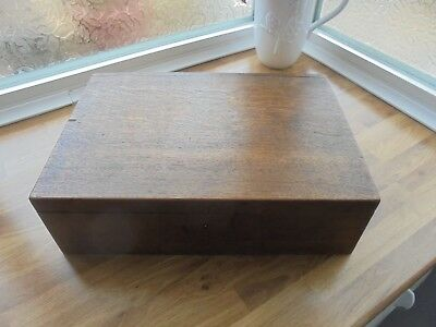 Vintage Antique Wooden Box With Key