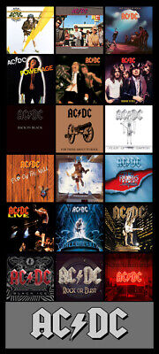 "AC/DC album cover discography magnet (4.5"" X 2.5"") back in black highway to hell"