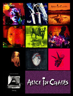 "ALICE IN CHAINS discography magnet (3.5"" x 3.5"") rainier fog metallica deftones"