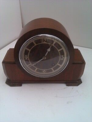 An Old Chiming Mantle Clock In Full Working  With A Superior Garrard Movement