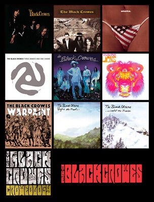 """BLACK CROWES album discography magnet (4.5"""" x 3.5"""") jimmy page southern harmony"""