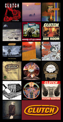 "CLUTCH album discography magnet (4.5"" x 3.5"") stoner rock corrosion down kyuss"