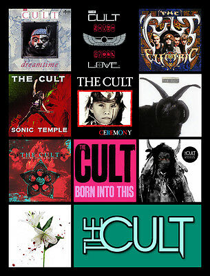 """THE CULT album discography magnet (4.5"""" x 3.5"""") guns n roses the cure billy idol"""