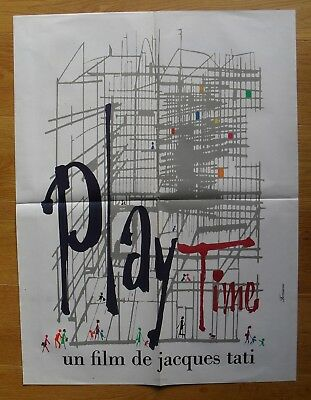 PLAYTIME jacques tati original french movie poster '67