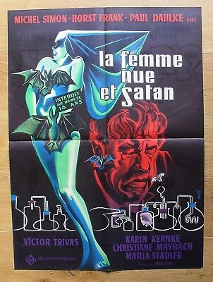 THE HEAD horror sci-fi  Horst Frank original french movie poster '59