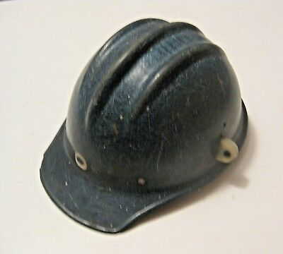 Vintage Blue Bullard 502 Construction Fiberglass Hard Hat ~ Ironworker's Choice