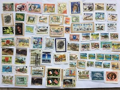 Collection Of 76 Stamps From Jersey