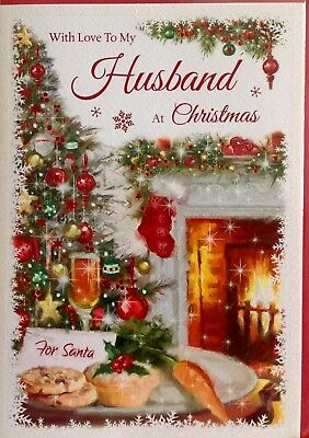 Husband Christmas Cards Uk.With Love To My Husband Christmas Card Luxury Card Lovely Verse Made In Uk