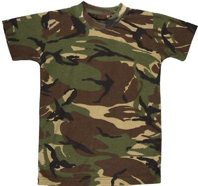 Style; Army Multi Terrain Camo 3-13 Years Quality Fashionable In Kas Kids Boys Camouflage T-shirt